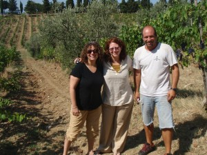 With Tomasso in the vineyard