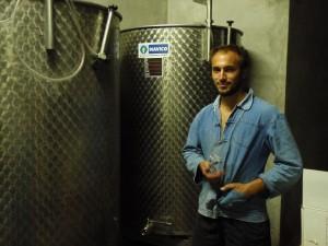 Antoine-Marie Arena tasting his 1998 Late-Harvest - still in vat!