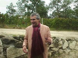 Francois Mitjavile in garden